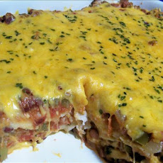 Tortilla and Bean Casserole