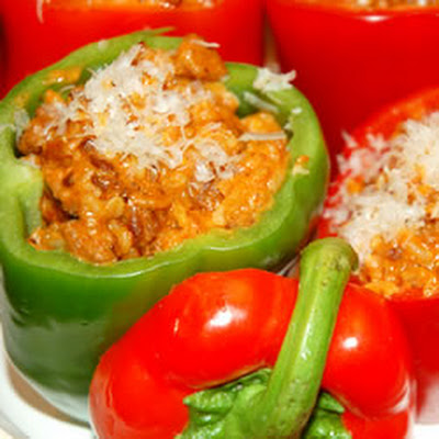 Bolognese Stuffed Bell Peppers