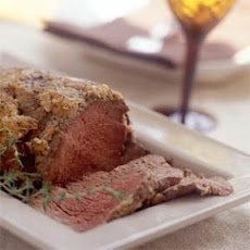 Beef Tenderloin with Horseradish-and-Roasted Garlic Crust