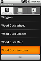 Screenshot of Waterfowl Call