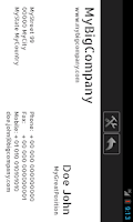 Screenshot of Cardfix QR Business Card