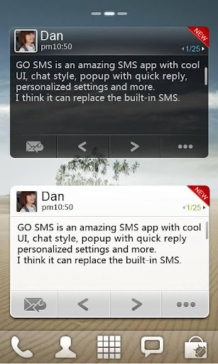 go-sms-pro-widget for android screenshot