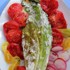 Grilled Hearts of Romaine W/Buttermilk-Bleu Cheese Dressing