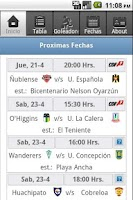 Screenshot of Futbol Chileno