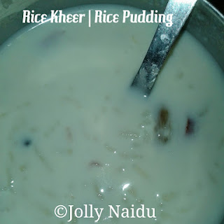 Rice Kheer | Rice Pudding