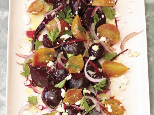 ... Roasted Beet Salad with Pickled Onions and Feta Recipe | Yummly