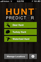 Screenshot of Hunt Predictor Hunting Times