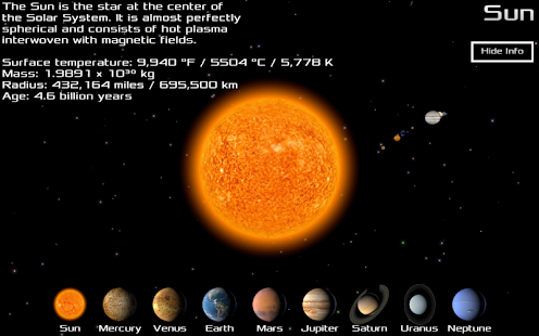 Pocket Solar System - screenshot