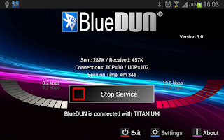 Screenshot of BlueDUN