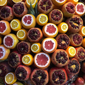Freshly Squeezed by Robert Socha - Food & Drink Fruits & Vegetables ( orange, fruit, pomegranate, market, food, constantinople, travel, turkey, istanbul, iphone, grapefruit, produce )