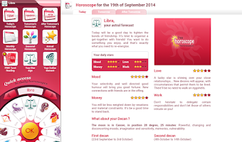 Screenshot of Free Horoscope