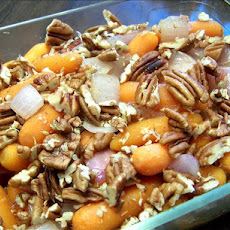 Sugar-Grilled Baby Carrots and Onions With Pecans