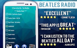 Screenshot of Beatles Radio