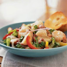 Mediterranean Potato Salad with Shrimp and Feta