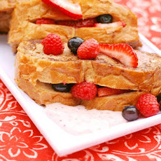 Berry-Stuffed French Toast With Vanilla Yogurt Sauce