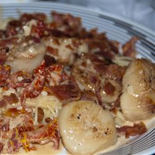 Father-in-Law's Scallops with Sun-Dried Tomatoes and Bacon