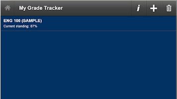 Screenshot of My Grade Tracker