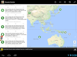 Screenshot of Natural Disaster Monitor