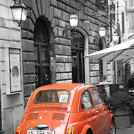 fiat 500 in rome by Samantha Bearman - City,  Street & Park  Historic Districts ( rome, fiat 500 )