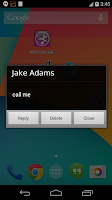 Screenshot of Call & SMS Announcer