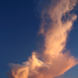 T-Cloud face by Joe Faherty - Landscapes Cloud Formations