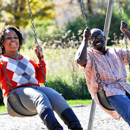 As we swing together  by Aleatheia Mason - People Couples