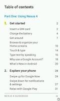 Screenshot of LG Nexus 4 Manual