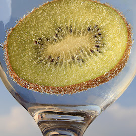 Kiwi by Besnik Hamiti - Food & Drink Alcohol & Drinks ( sky, kiwi, drink, bubbles, cloud )