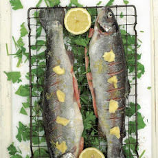Grandad Ken's crispy grilled trout with parsley & lemon