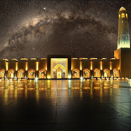 The Milky way and the architecture  by Agha Rafay - Buildings & Architecture Architectural Detail ( milkyway, star, artistic, buildings, places, architecture, place, milky way )