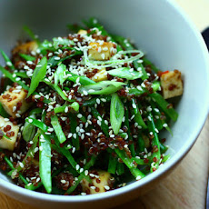 Asian Style Red Quinoa Salad with Tofu
