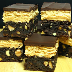 Chocolate-Peanut Butter Fudge Bars