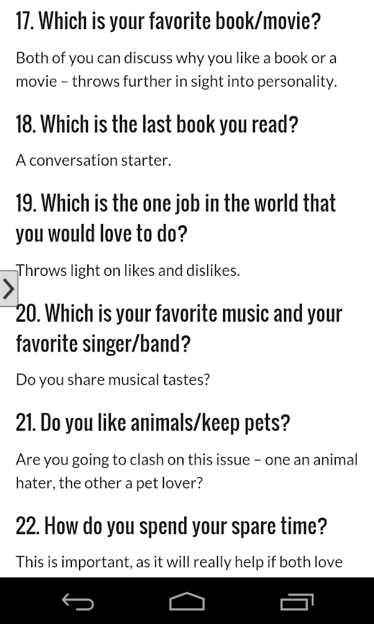 Funny speed dating questionnaire