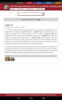 Screenshot of Diccionaris Valencians