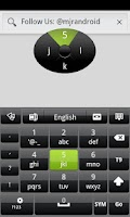 Screenshot of Black GO Keyboard Theme