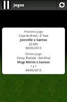Screenshot of Santos Mobile