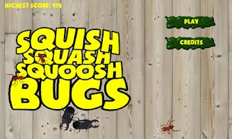 Screenshot of SQUISH SQUASH SQUOOSH BUGS!