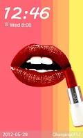 Screenshot of Lipstick Go Locker theme