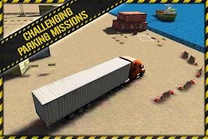 Screenshot of Trucker Parking 3D