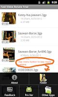 Screenshot of Fast Video Rotate Trial