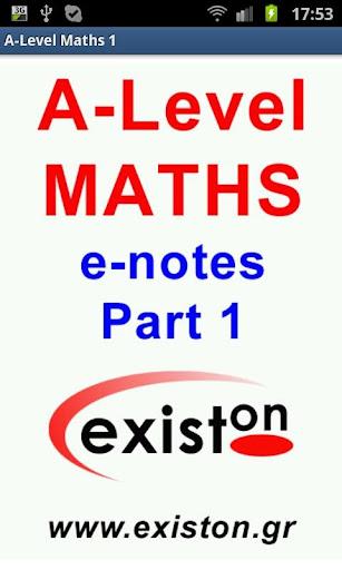 A-Level Mathematics Part 1