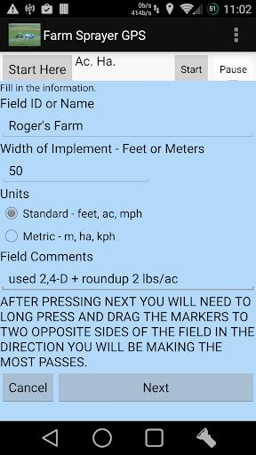 Farm Sprayer GPS - screenshot