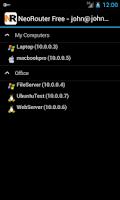 Screenshot of NeoRouter VPN Mesh