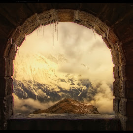 view from the chapel on Grossglockner Hochalpenstraße by Petr Klingr - Landscapes Mountains & Hills ( mountain, hdr, snow, icicles, cloud, view, morning )