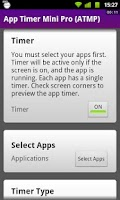 Screenshot of App Timer Mini Pro (ATMP)