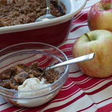 Easy Maple Apple Crumble