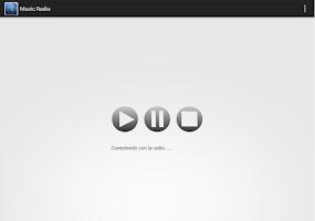 Screenshot of Music Radio