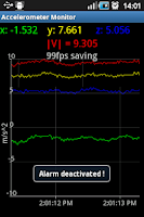 Screenshot of Vibration Monitoring