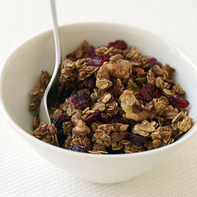 Maple-Walnut Granola with Dried Cranberries