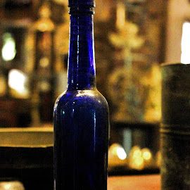 Blue Bottle by Anoop Namboothiri - Artistic Objects Antiques ( old, blue, anoop namboothiri, bottle, antique,  )